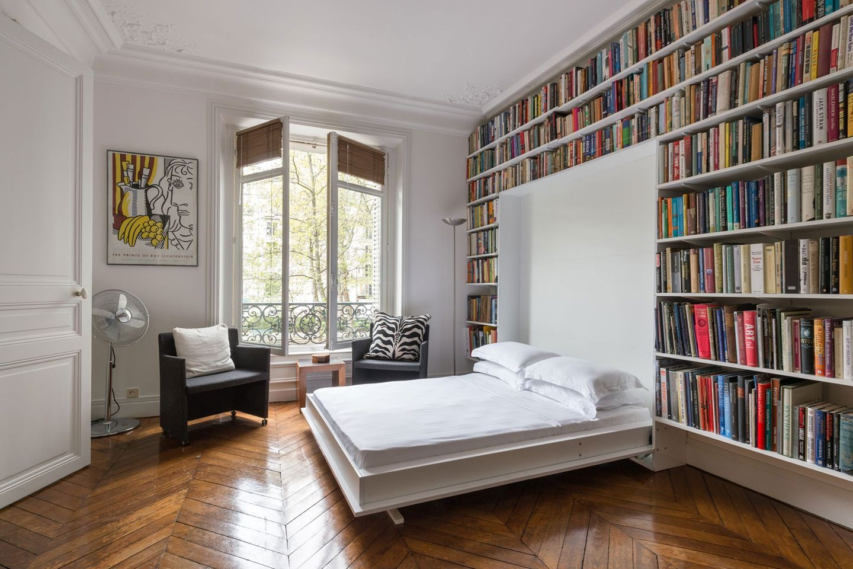 Bookcase ideas Modern murphy beds, Murphy bed desk
