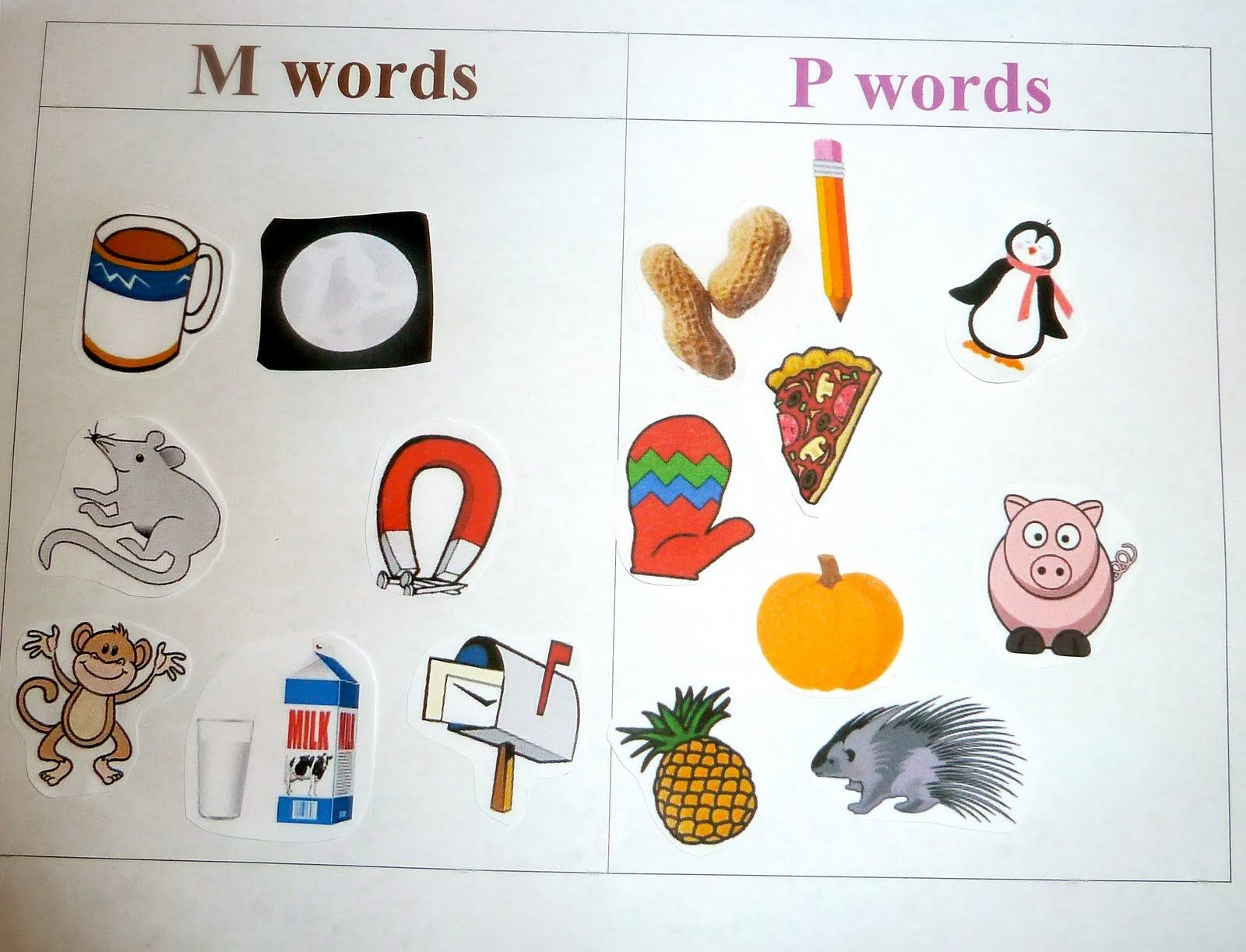 7 letter words starting with m m things vs p initial sound sorting things that 14715