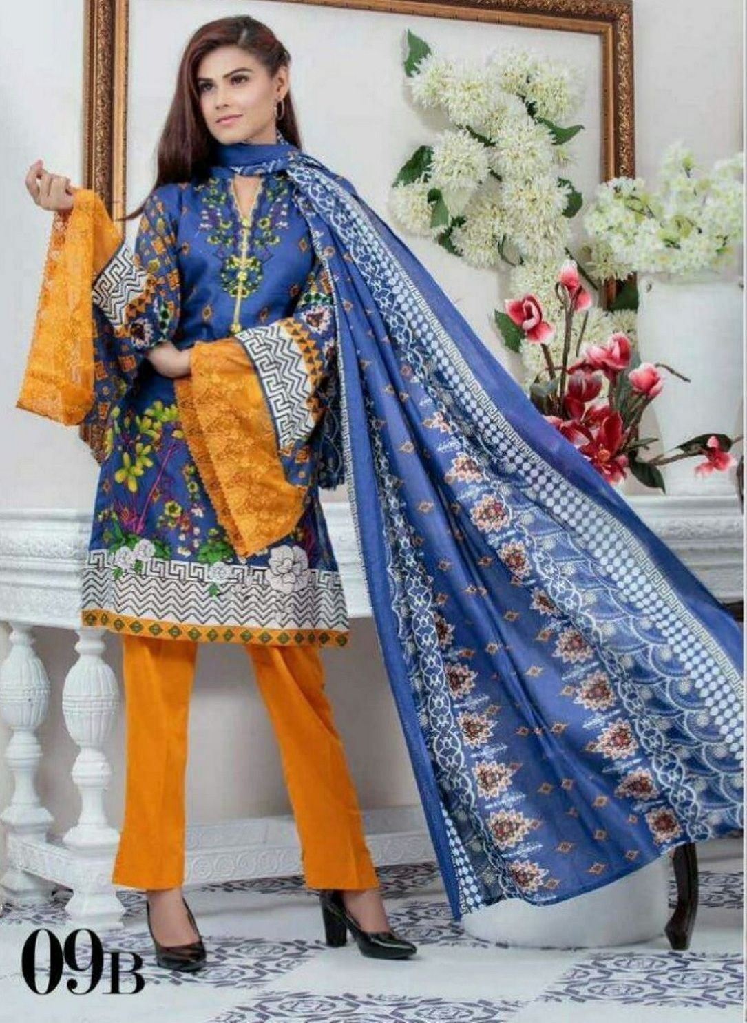 17a482a270 Buy OrIginal Pakistani Anum Printed Lawn Salwar Suit 09B | PAKISTANI ...