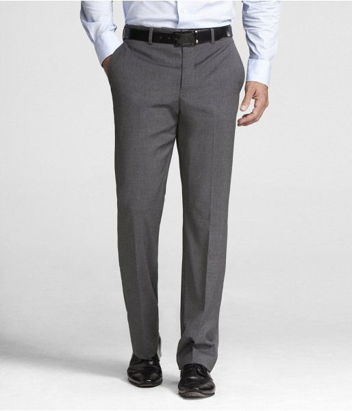 58a844772a13 Express Mens Stretch Wool Blend Producer Suit Pant Gray