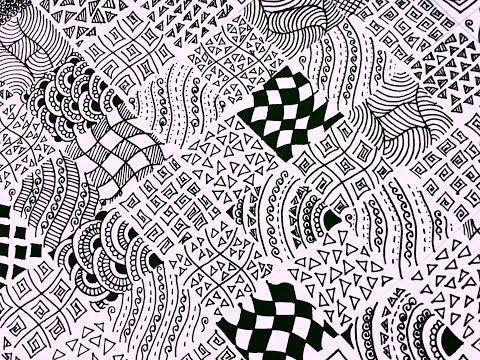 45 15 Easy Zentangle Patterns Full Page Zentangle Karthika Loves Diy Youtube Easy Zentangle Patterns Zentangle Patterns Easy Zentangle