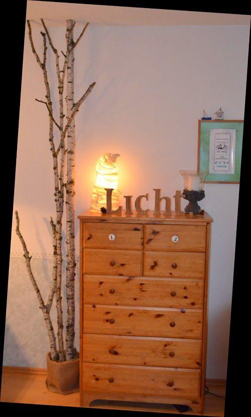 like-stamps-so-much Birkenstamm im Wohnzimmer DIY für 11 Euro - orange wand wohnzimmer