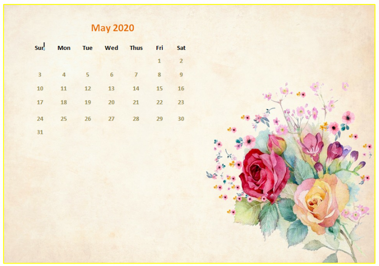 Monthly 2020 Desktop Calendar Wallpapers (With images)