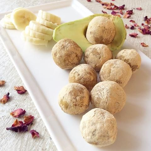 Avo~nana Beauty Balls!  Beautification from the inside out. These DIY bliss balls have body sculpting & collagen boosting protein, antioxidants, stamina & hormone supporting superfoods, and the big Ohhhmega-3! Not to mention so delicious they will have you radiating LOVE. Get the recipe here...
