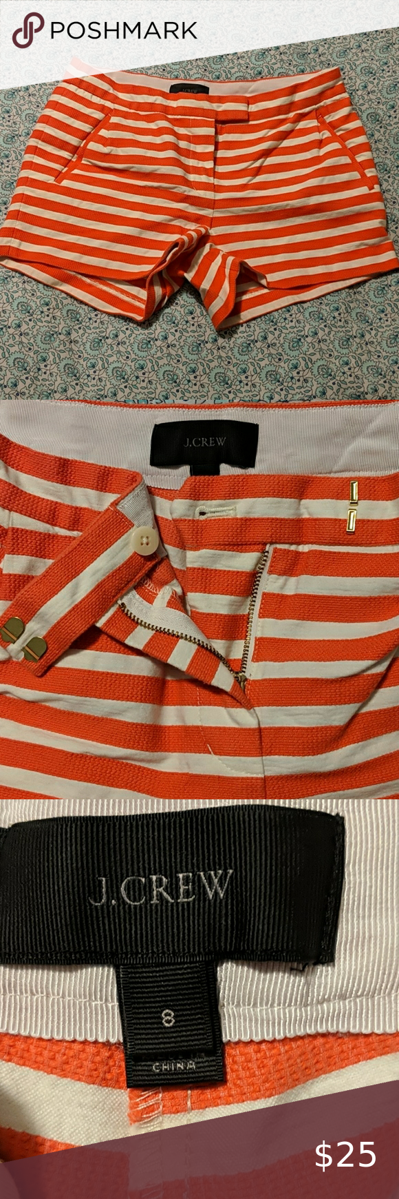 ????J. Crew boating shorts! Worn once, like brand new! J. Crew Shorts Jean Shorts #myposhpicks