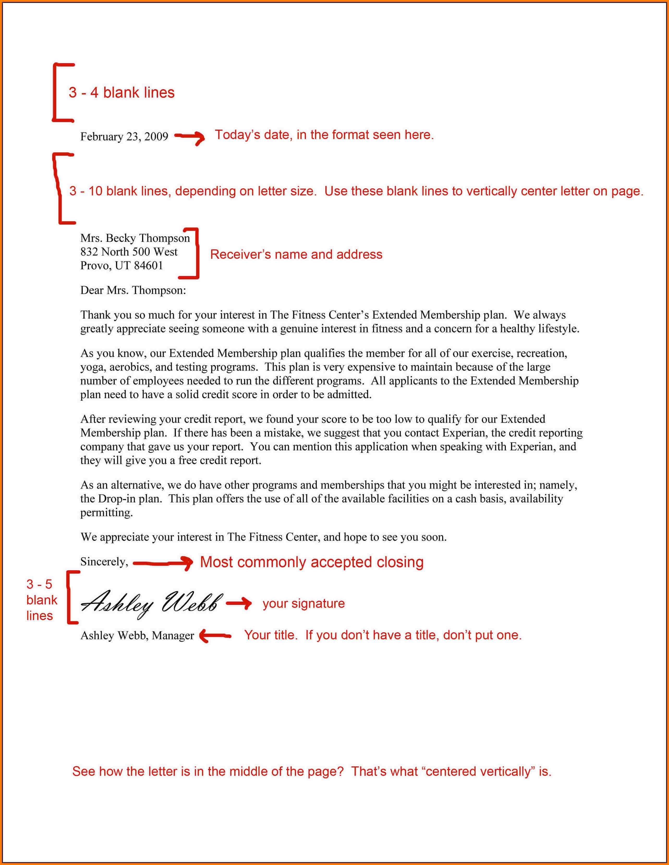 image result for business letter