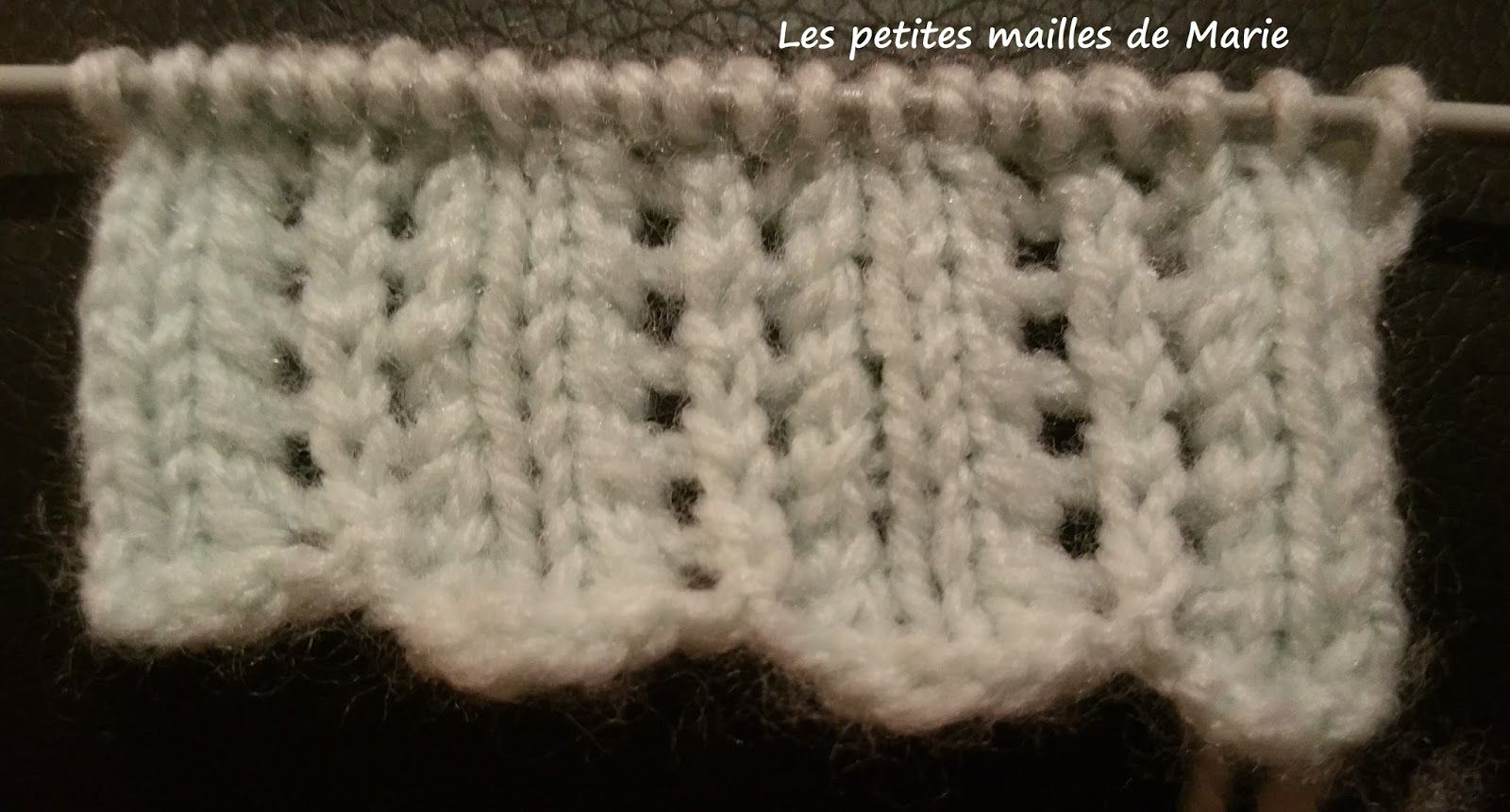 tricoter 1 maille lisiere