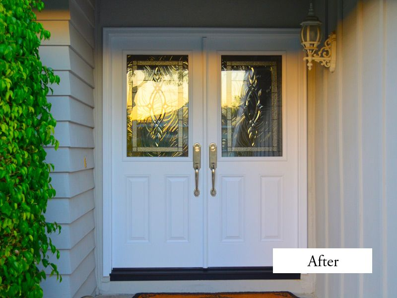 Single Entry Doors With Glass converted a single 42 inch door with side window to plastpro
