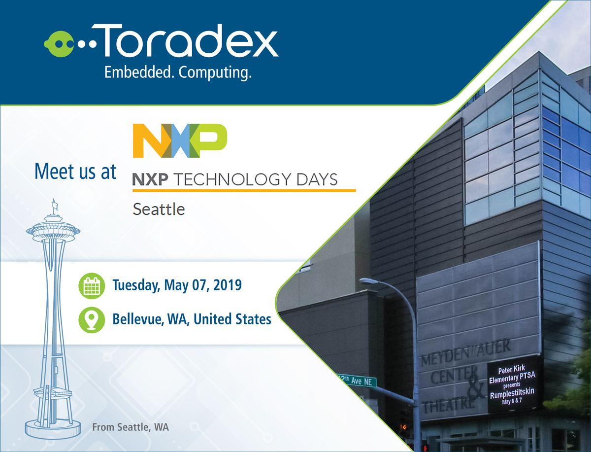 Meet us next week in #Seattle at the upcoming #NXP Technology Days