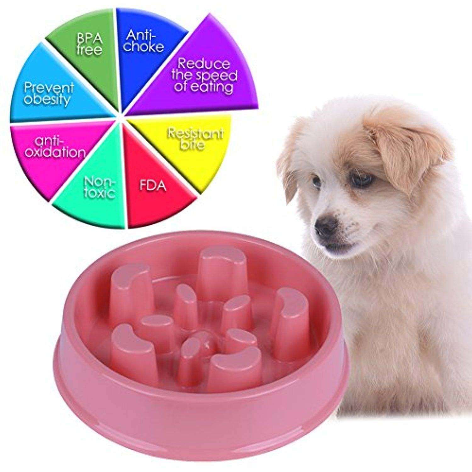 Awtang Special Design Pet Feed Interactive Dog Bowl Pet Dog Feed
