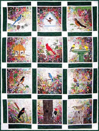 Free Bird Quilt Patterns Bird Garden Watercolor Quilt Kit At