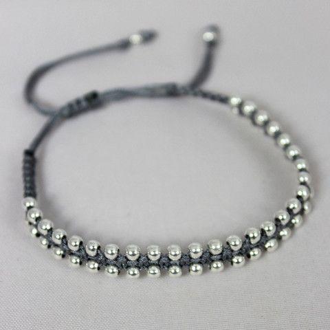 Ally Silver Grey Handmade Bracelet For A Cause