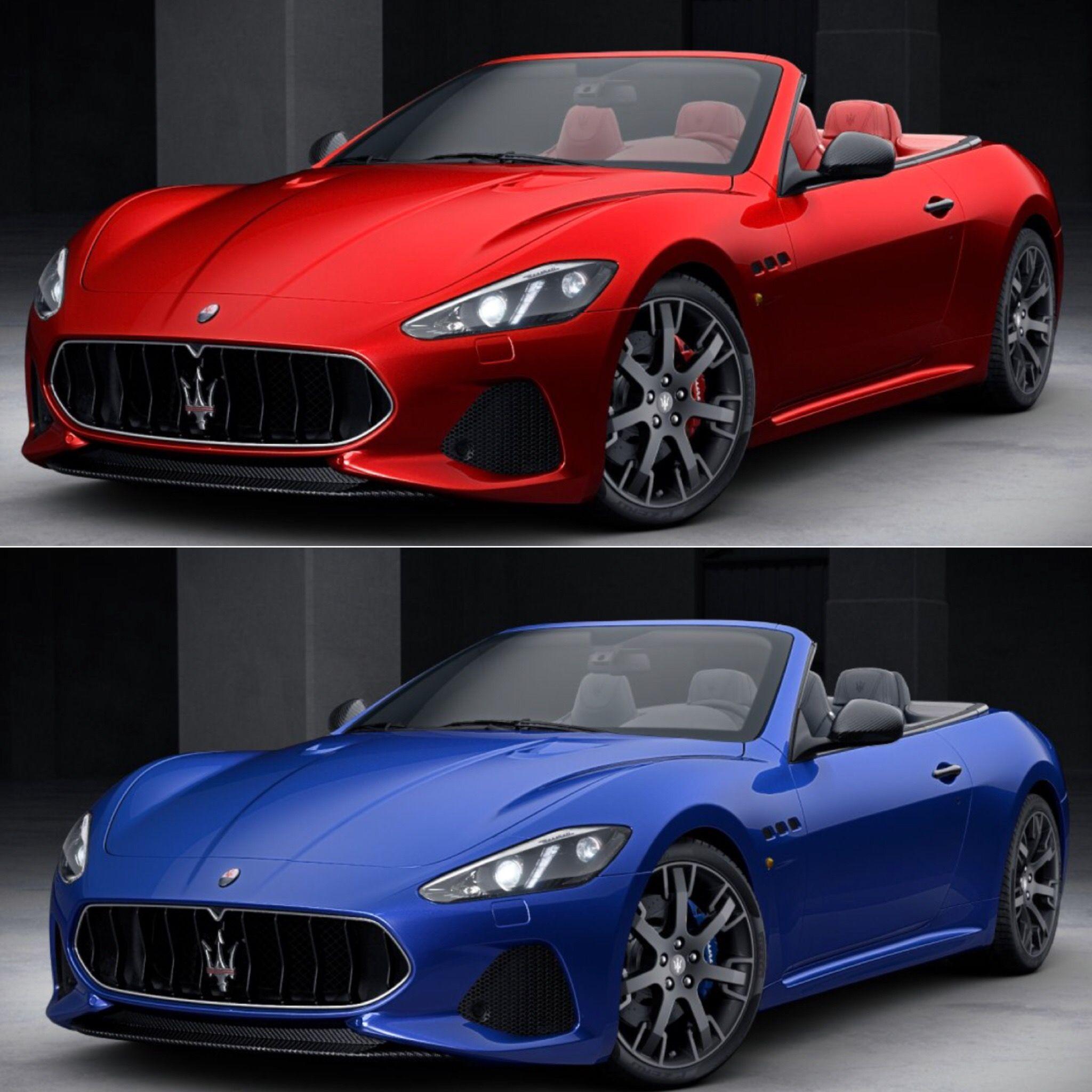 Red Or Blue? Maserati GranTurismo MC. Call If Your
