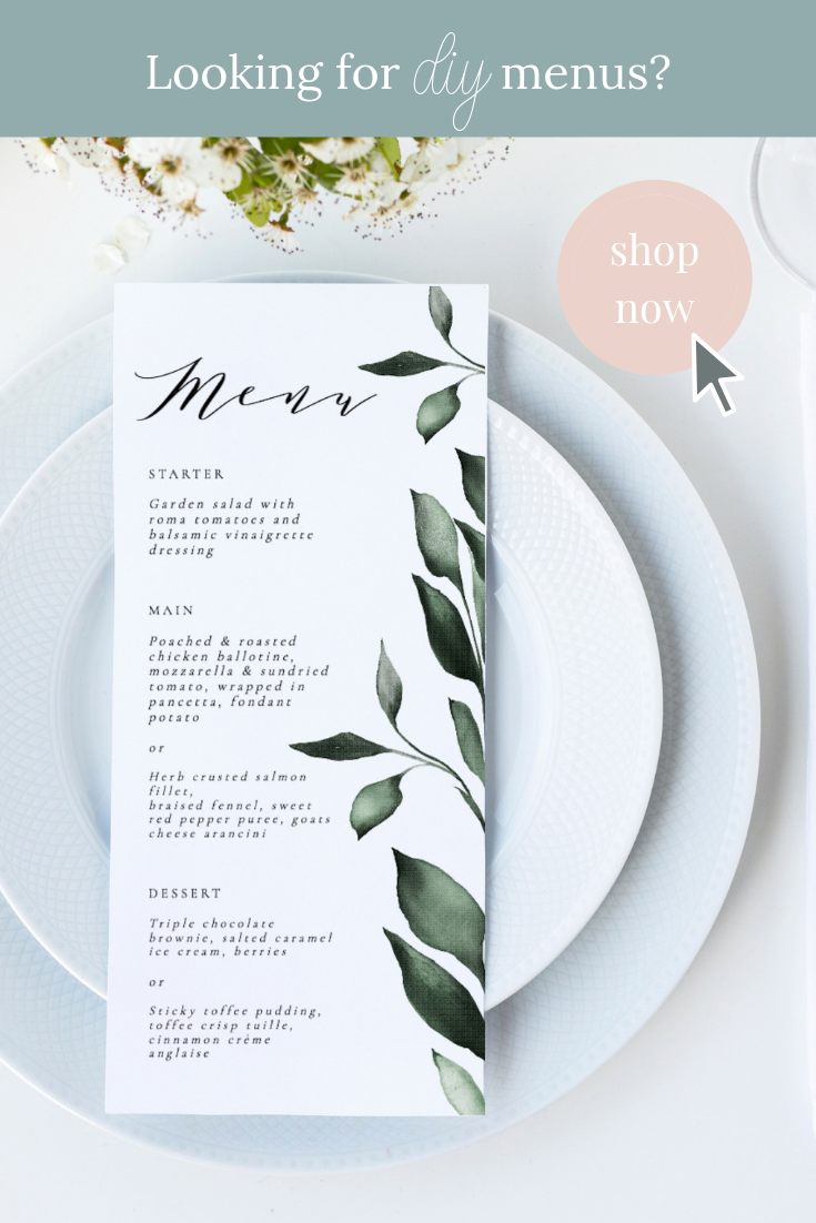 Shop Our Selection Of Diy Dinner Menus And Wedding Menus For Your Special Event Or Wedding Add An Elegant Wedding Menus Design Dinner Menu Wedding Dinner Menu