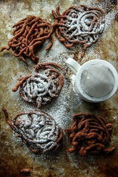 Gingerbread Funnel Cakes- gluten free and vegan   food and drinks - -