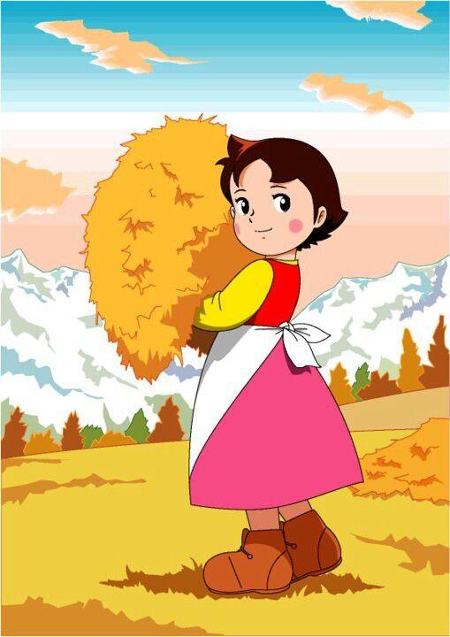 Pin By كاجالي On انمي هايدي الصغيره Heidi Cartoon Vintage Cartoon Anime