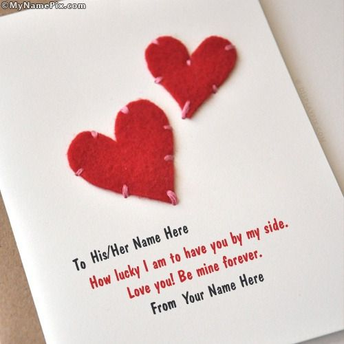 write name on hearts card picture in beautiful style best