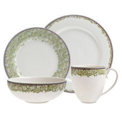 Denby White \u0027Monsoon Daisy\u0027 border sixteen piece dining set  sc 1 st  Pinterest & Denby White \u0027Monsoon Daisy\u0027 border sixteen piece dining set- at ...