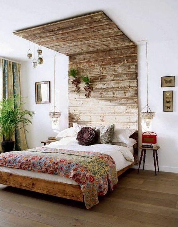 kopfteil bett selber bauen bastelideen kopfteil aus europaletten ... - Kleiderablage Im Schlafzimmer Kreative Wohnideen