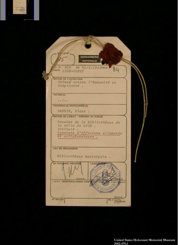 evidence tag from the trial of klaus barbie in lyon this  nuremberg trials wiki 159 best hcc~nuremberg trials military tribunals images on