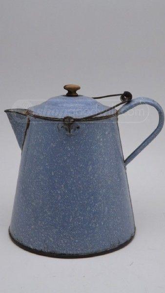 Vintage Enamel Ware Chuck Wagon Type Coffee Pot | Just