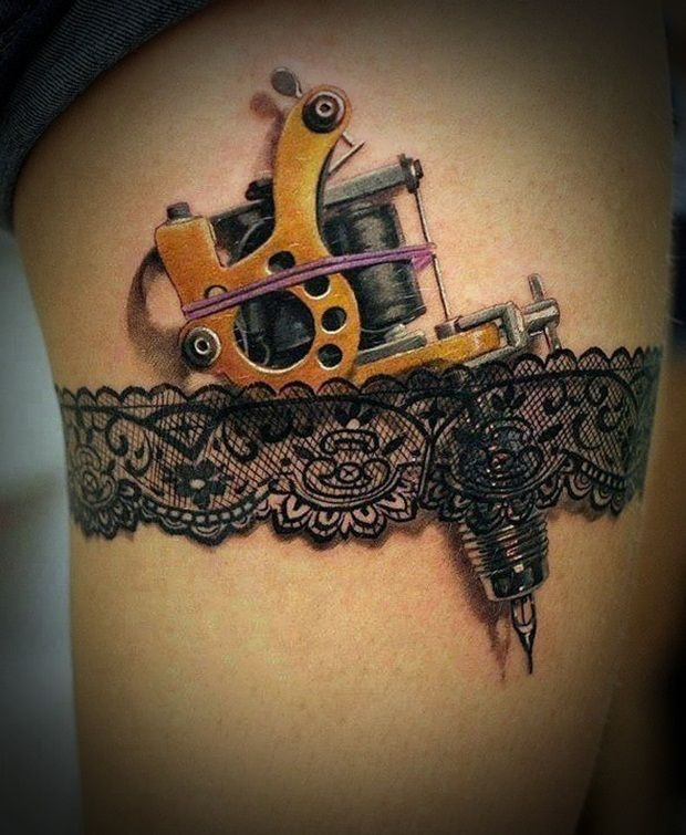 Tattoo Ideas Upper Leg: Sexy Leg Tattoo Designs For Women (49)