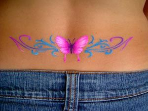 e8ca082262a2b lower back tattoo designs for women | Butterfly Tattoos on Lower Back 4