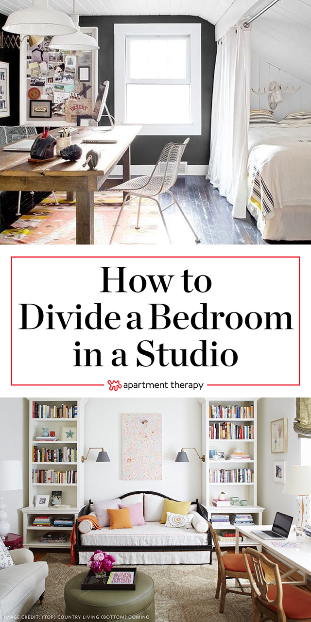 How To Create A Bedroom In A Studio Apartment Apartment Therapy Small Spaces Small Apartment Therapy Bedroom Furniture Layout