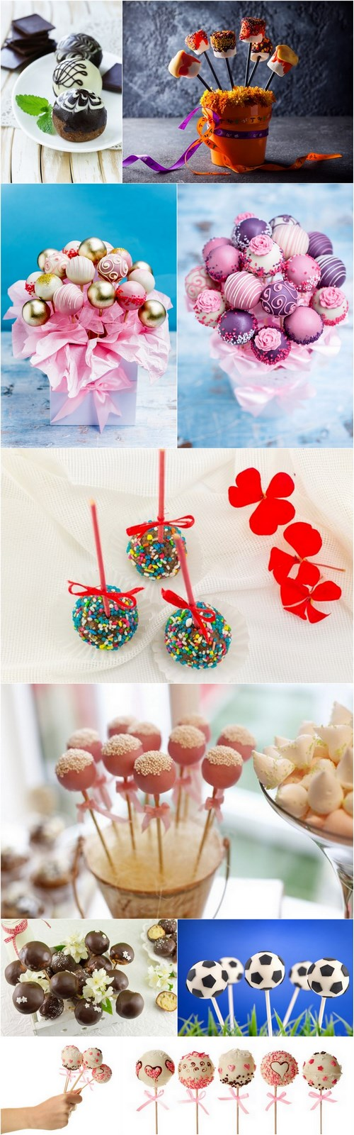 Cake Pops - 10 UHQ JPEG Stock Images