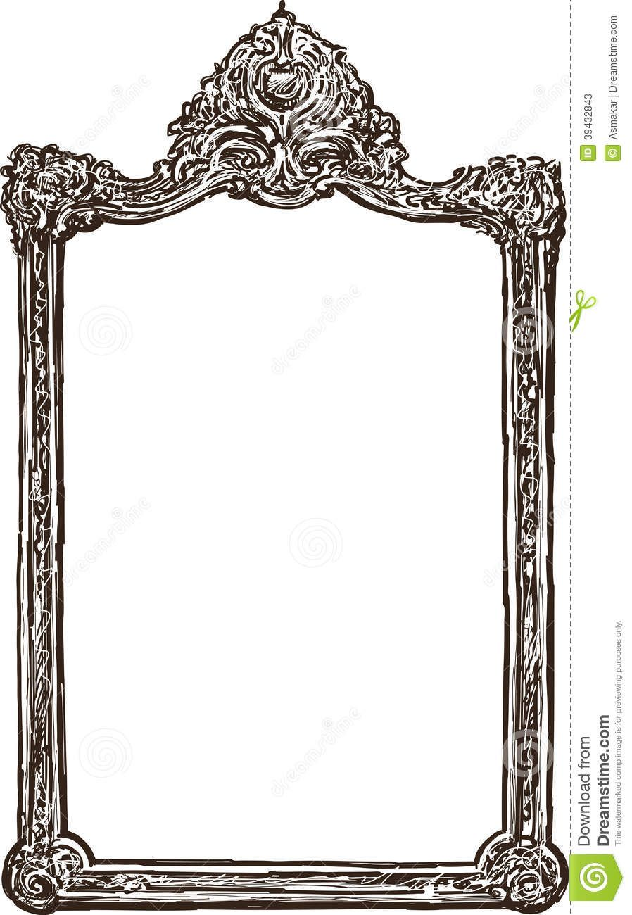 old-ornate-frame-vector-drawing-baroque-style-39432843.jpg (898×1300)
