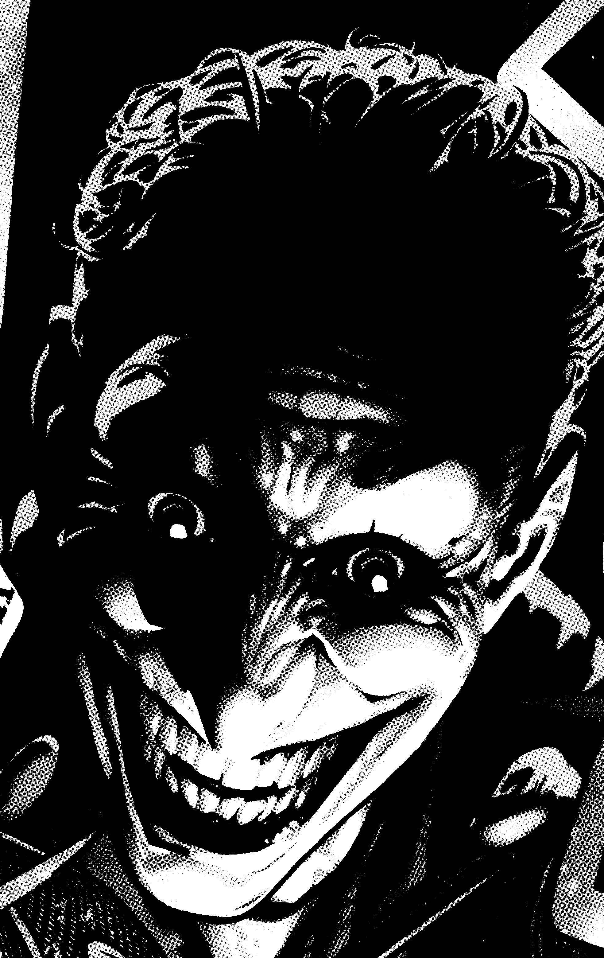 Joker in black and white