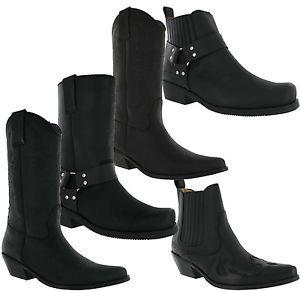 Western Johnny Leather About Gusset Details Bulls Cowboy 4jA35RL
