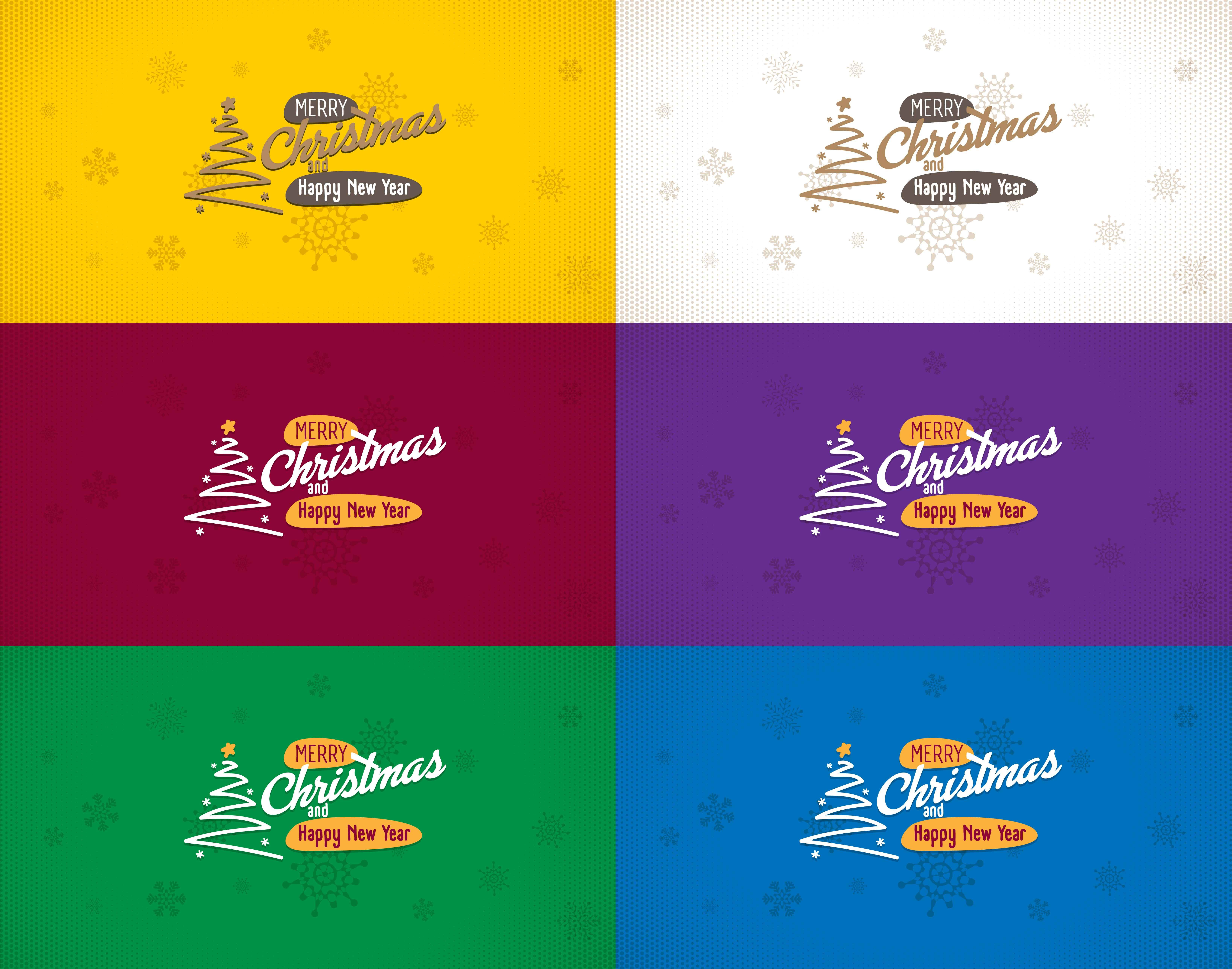 Merry christmas and happy new year greeting cards set merry new merry christmas and happy new year greeting cards set merry new year christmas greeting card vector design set corporate color editable m4hsunfo