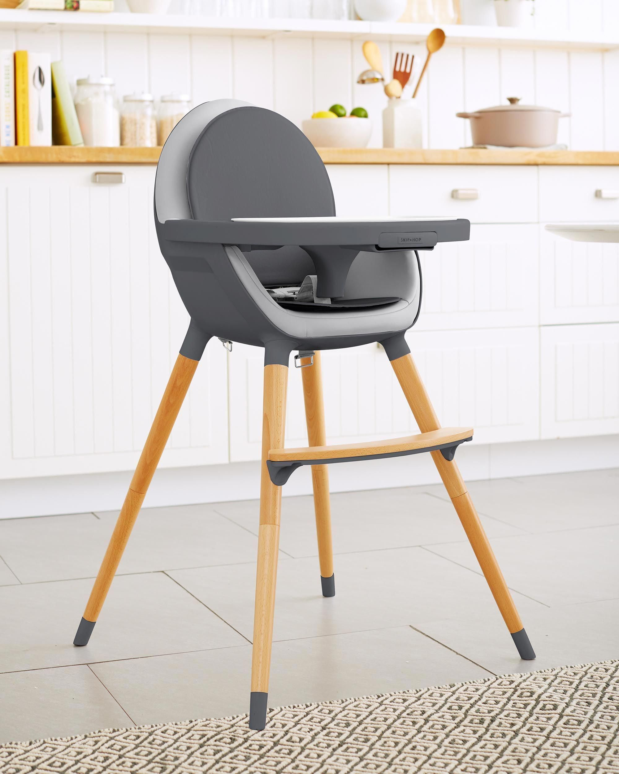 space saving high chair positions in a fraternity with clean lines and gorgeous beechwood legs our will look right at home any setting the detachable tray has separate