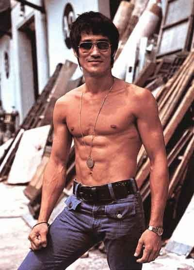 """Bruce Lee the handsome man. [*there are days when I wish I was a man: """"Look at all the hunnies who want me because of my SICK-PACK!""""] *clearly, if I have Bruce instead of a body-builder, then I am not a fan of bodybuilding. I am a FIGHTER."""
