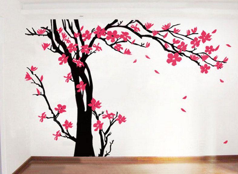 Wall Decals Nursery Cherry Blossom Tree Vinyl Decor 96 00 Via Etsy Cherry Blossom Tree Tree Wallpaper Tree Wall Decal