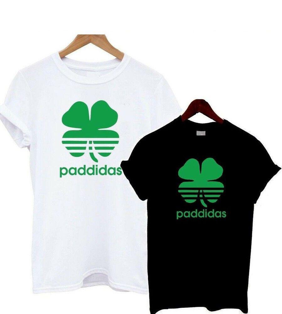 Paddidas St Patricks Day Funny T Shirt Irish Paddy Top Ireland Unisex Leprechaun