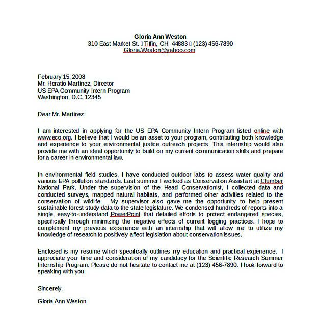 Resume Cover Letter for Internship Word Free Download , Resume Cover ...