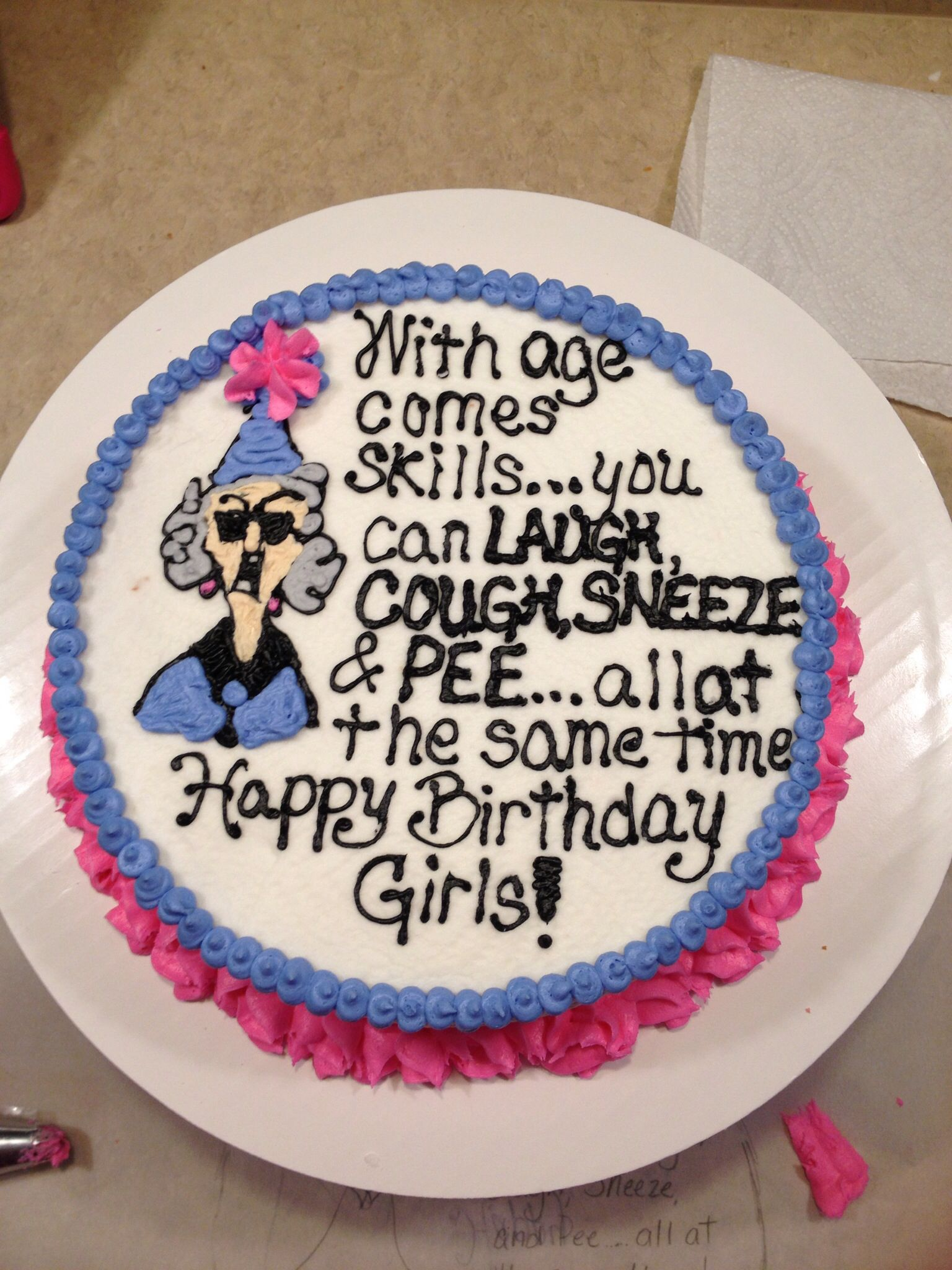 Maxine Birthday Cake I Made For My Grandma And Her Sisters