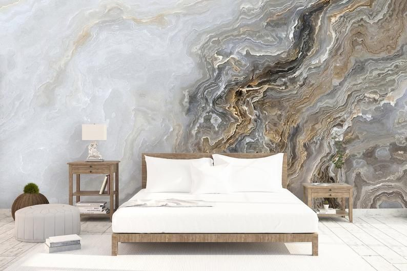 Art Wallpaper Peel And Stick Self Adhesive Wave Wall Mural Etsy Marble Wall Mural Textured Wall Panels Marble Wallpaper Bedroom