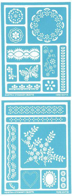Martha Stewart Adhesive Stencils ... 2 Sheets/Pkg Fair Isle Dots ...