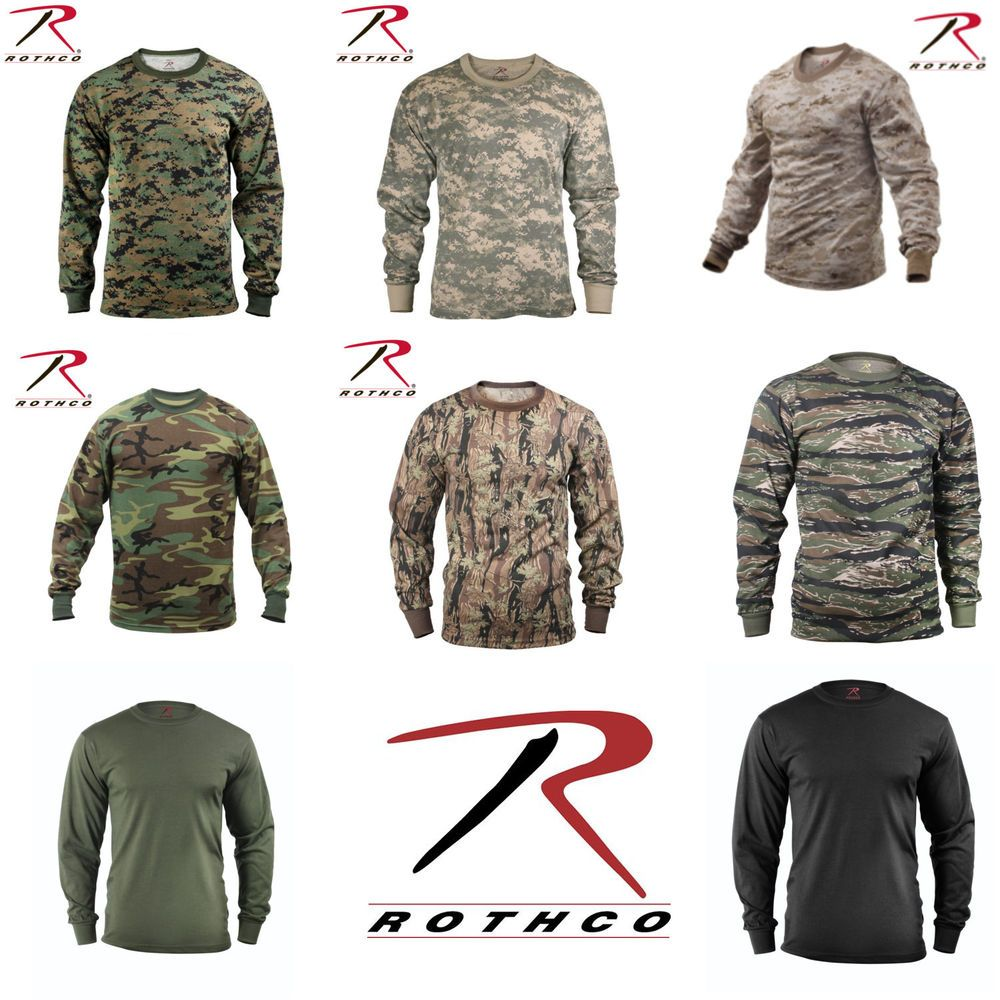 575af517 Rothco Long Sleeve T-Shirt. Rothco's Long Sleeve Solid T-Shirts are built to  last for any occasion with a comfortable and durable 60% cotton/40%  polyester ...