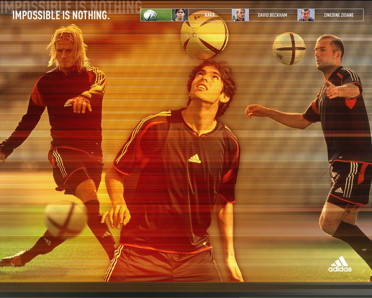 Image result for kaka adidas beckham zidane