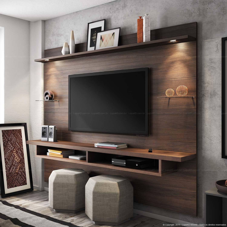 Painel para tv painel tv sala quarto pinterest for Em muebles