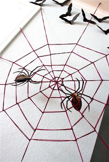 Halloween, Giant Yarn Spider Web Tutorial #halloween #crafts