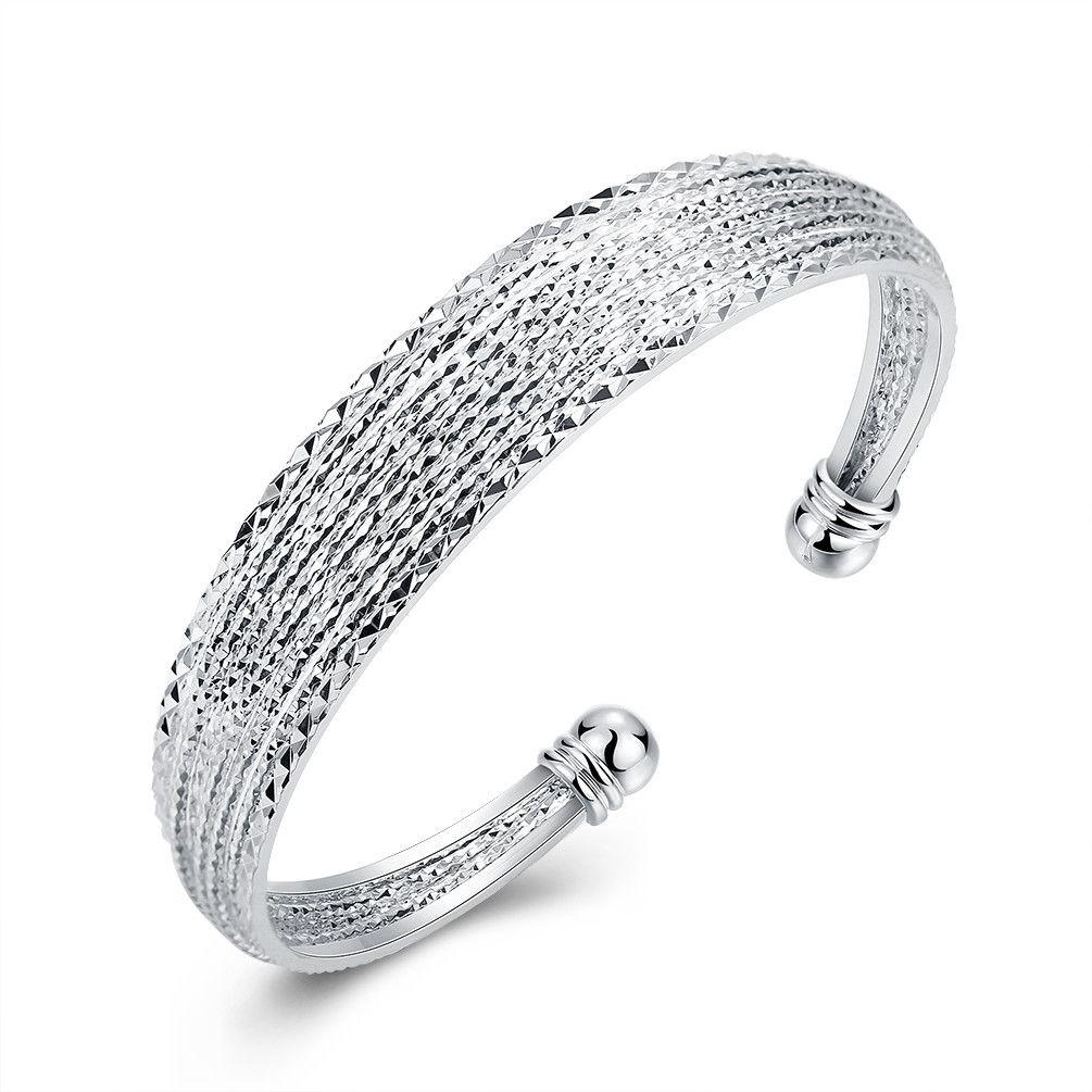 Yarn Silver Bracelet