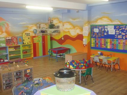 preschool+design+ | Colorful Wall Decorating for Preschool ...