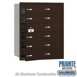 4B+ Horizontal Mailbox (Includes Master Commercial Lock) - 12 B Doors (11 usable) - Bronze - Front Loading - Private Access by Salsbury Industries. $616.50. 4B+ Horizontal Mailbox (Includes Master Commercial Lock) - 12 B Doors (11 usable) - Bronze - Front Loading - Private Access - Salsbury Industries - 820996417602