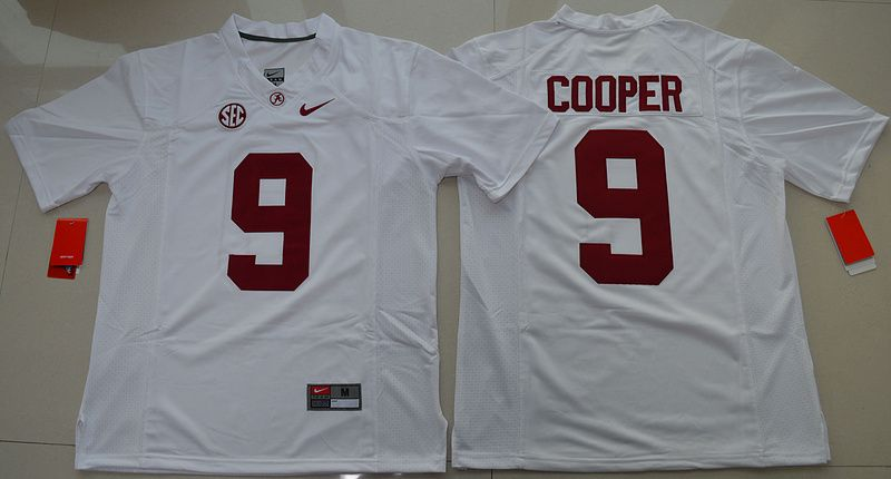 Alabama Crimson Tide Amari Cooper 9 College Football Limited Jersey - White 2f40fa479