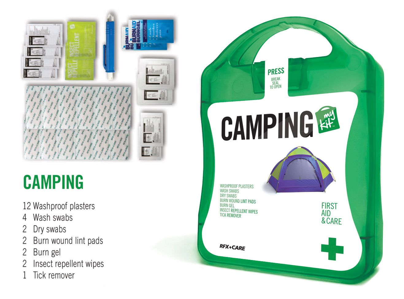 Funky concepts camping first aid and emergency kit